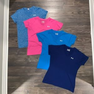 Lot of 4 Under Armour Tees